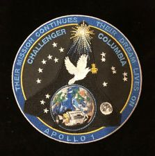 APOLLO 1/COLUMBIA/CHALLENGER MEMORIAL PATCH